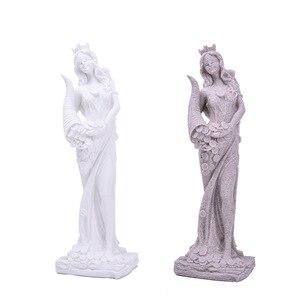 Image 5 - BUF 32 см песчаник белая богиня богатства Статуя смолы ремесло Домашняя Декоративная скульптура Европейский Простой декор украшения подарки