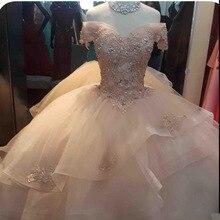 Розовые платья Quinceanera с открытыми плечами кружево кристаллами Принцесса бальное платье для выпускного вечера сладкий 16 платья женщин Vestidos De 15 Anos