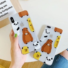 We Bare Bears Mobile Phone Covers Cases for iphone 6 6s 6Plus 7 8plus Soft Slim TPU Cute For X XS MAX cases