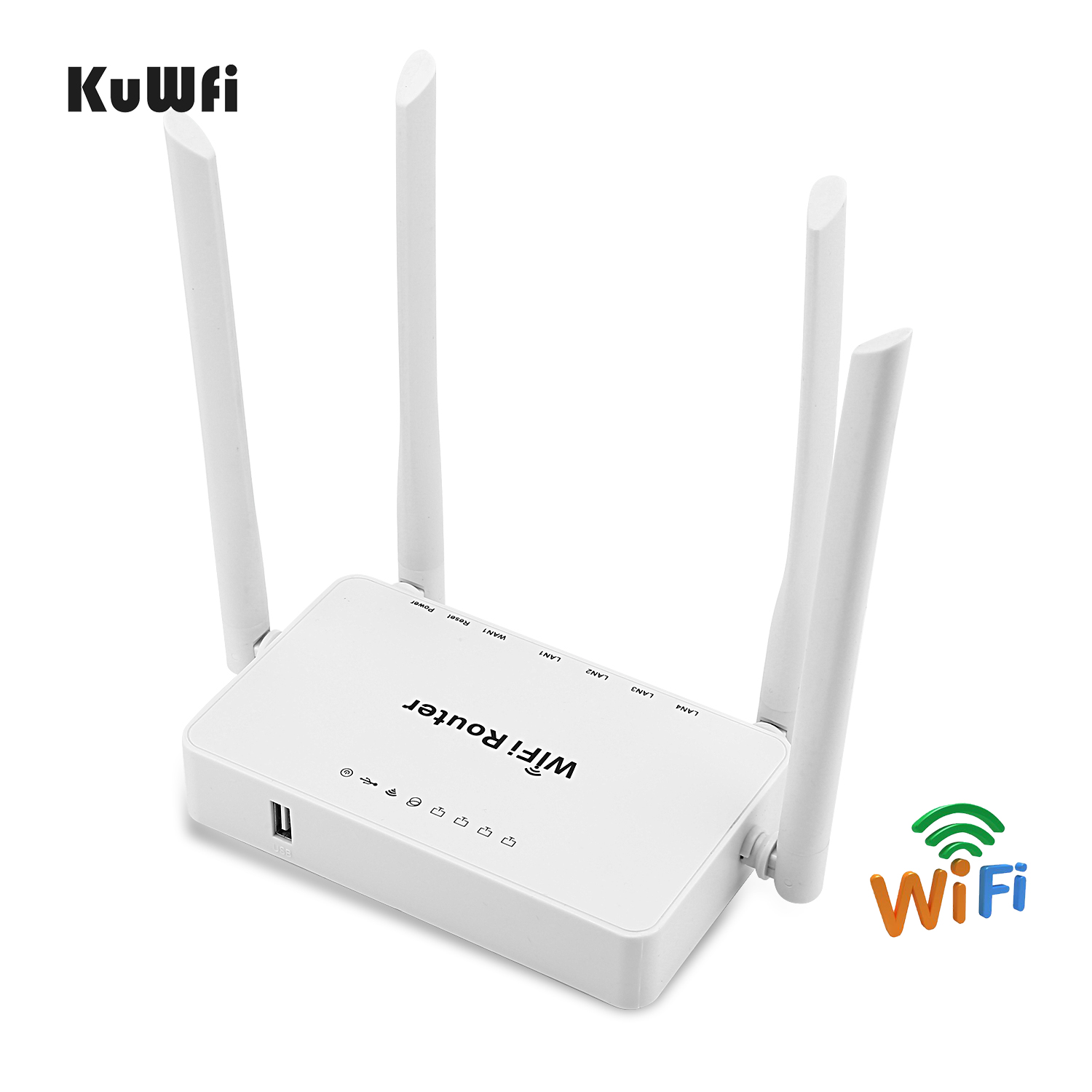 Image 3 - KuWFi 300mbps Wireless Router+High Gain Wifi USB Adapter 300Mbps High Power Wifi Router one Set Extend Wifi Signal Share 32users-in Wireless Routers from Computer & Office