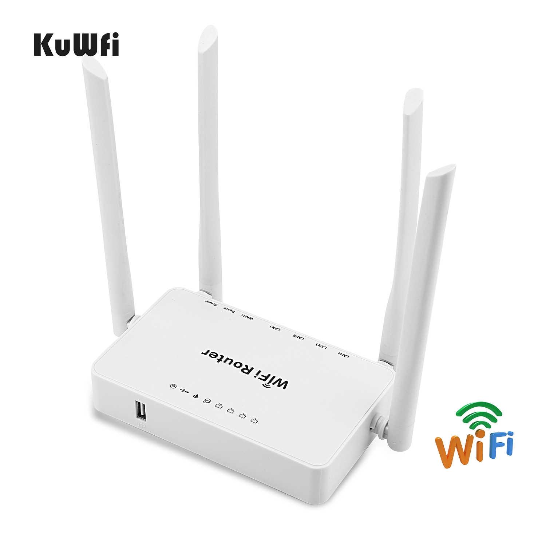 Router inalámbrico KuWFi 300mbps + adaptador USB Wifi de alta ganancia 300Mbps enrutador Wifi de alta potencia un conjunto de extensión compartir señal Wifi 32 usuarios