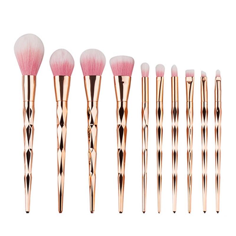 6pcs/7pcs/10pcs unicorn makeup brushes set rainbow Mermaid professional powder Blush foundation eyebrow make up brush kit tools.
