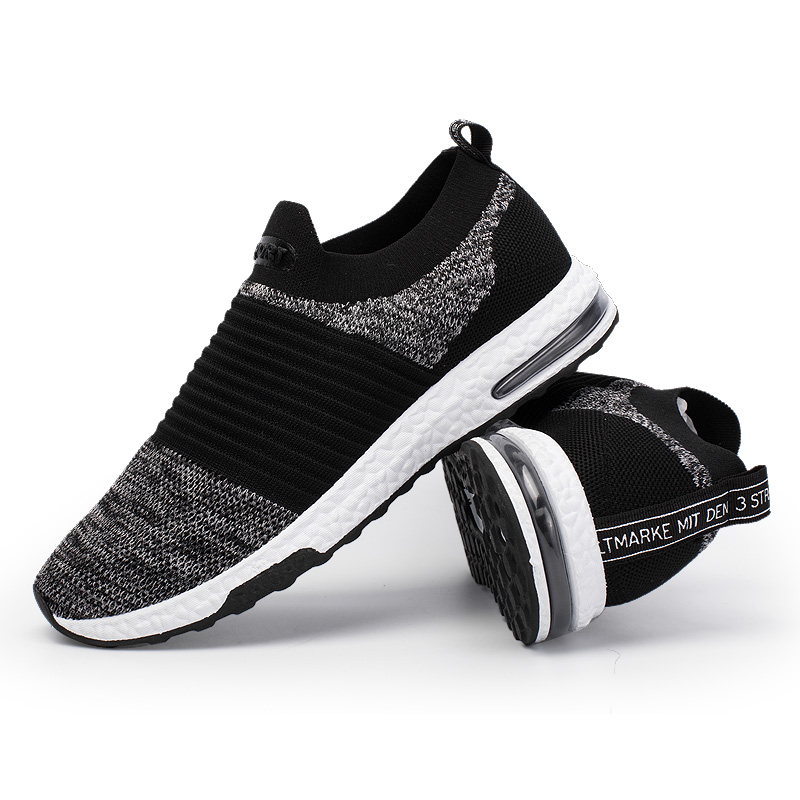 цена на FANCIHAWAY Air Cushion Running Shoes For Men Boost Laceless Sneakers Men Shoes Sport 2018 Breathable Primeknit Cool comfortable