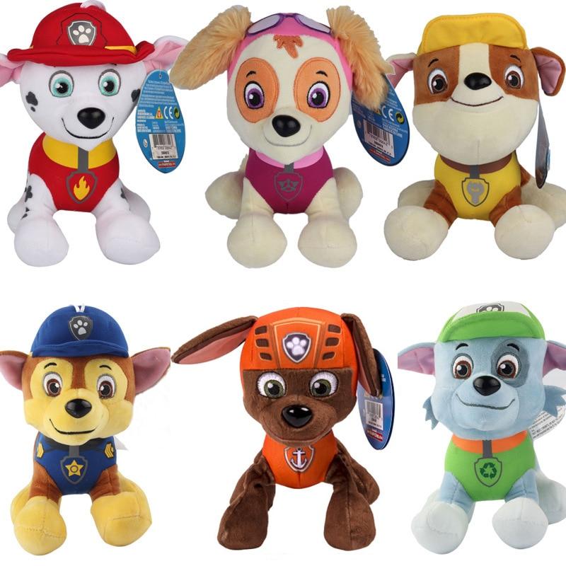 20cm Canine Patrol Dog Toys Russian font b Anime b font Doll Christmas gift Sale Car