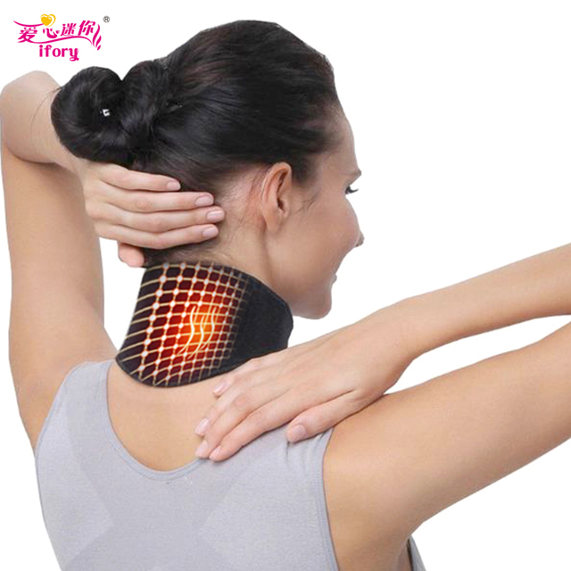 Ifory Health Care Neck Support Massager 1Pcs Tourmaline Self-heating Neck Belt Protection Spontaneous Heating Belt Body Massager