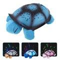 Novo criativo tartaruga estrela lâmpada de projetor luz da noite levou luminosa brinquedos de pelúcia brinquedos para bebê dormir 4 cores YZT0147