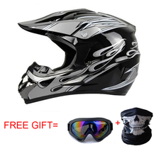 Classic Motocross Helmets ATV MTB motorcycle helmet Motorcycle helmets downhill helmet Fuera de la carretera casco+ goggles+mask