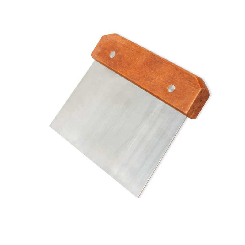 Cortador de jabón recta de acero inoxidable cera masa cortador mango de madera para jabones haciendo muchacho-venta