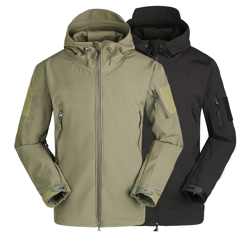 Mens Tactical Military Army Water Resistant Softshell Jacket Coat Foliage Green