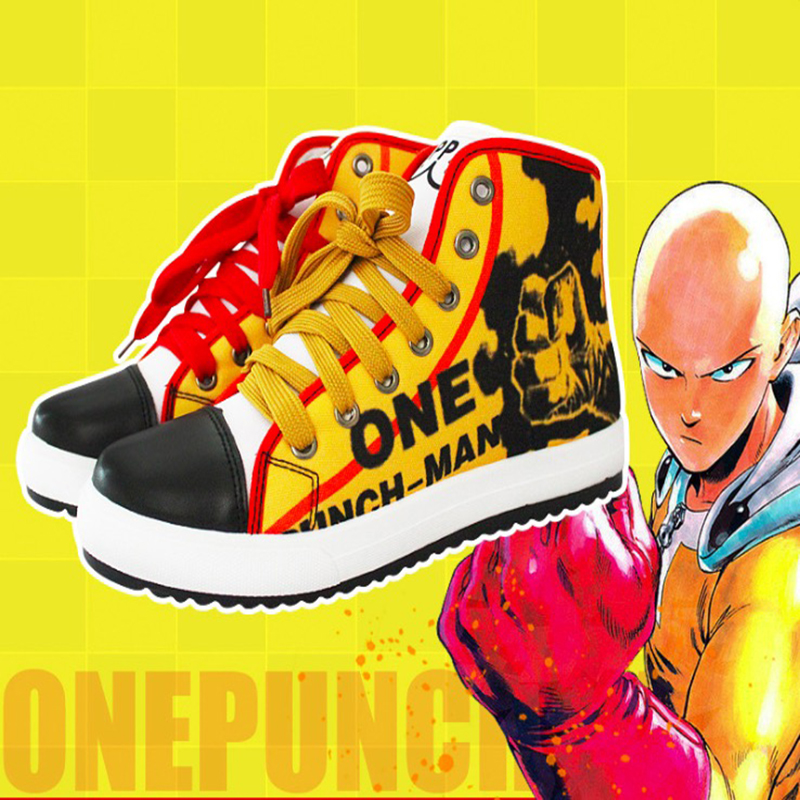 Anime One Punch Man Cosplay Shoes Saitama Cosplay Canvas Shoes Halloween Carnival Party Daily Leisure Shoes