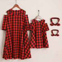 Summer Mommy and Me Matching Red Gingham Dress