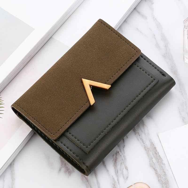 7f18dd763 ... New Matte Leather Women Small Wallet Carteira Mini Womens Wallets Purses  Short Female Credit Card Holder ...