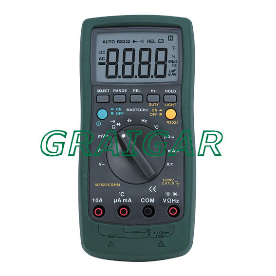 Free Shipping Mastech MS8226 True RMS Auto Ranging DMM Digital Multimeter 1 pcs mastech ms8269 digital auto ranging multimeter dmm test capacitance frequency worldwide store