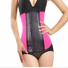 19f9778f8 Body slimming shapewear colombian latex waist trainer latex shapers with  latex hook(China)