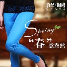 100% de mujer de seda real de doble cara pantalones largos caramelo mallas de seda pantalones de tubo ajustados