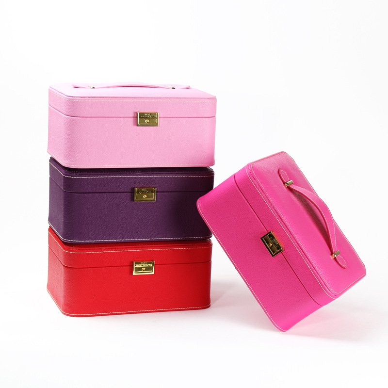 *Large-capacity Suitcase Sunglasses/Watches Leather Material Jewelry Accessories Storage Box Storage Bag Place Classified