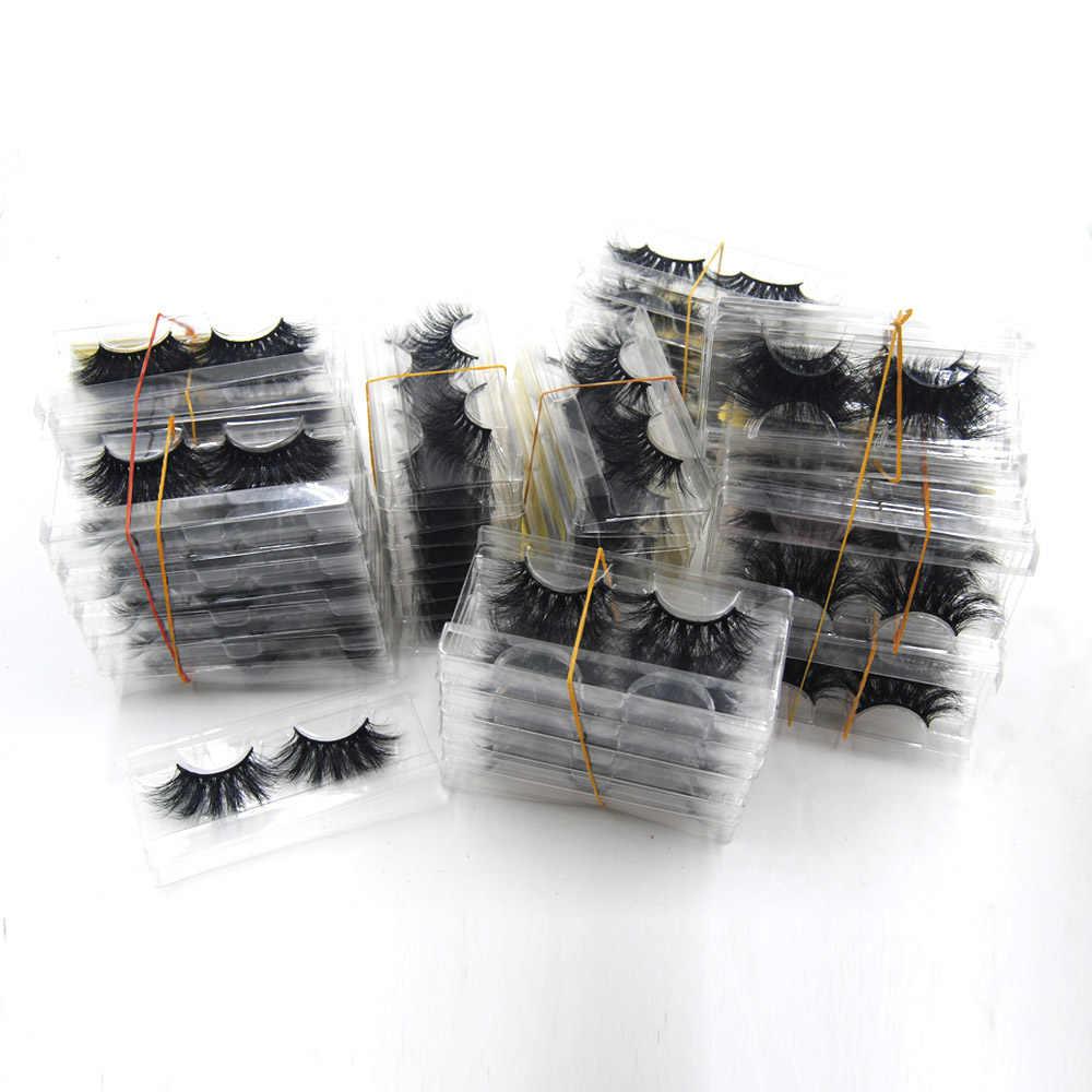 30 шт оптом 5D 25 мм норковые ресницы 100% безжалостные ресницы ручной работы многоразовые натуральные ресницы Популярные Накладные ресницы для макияжа