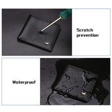 Genuine Leather Men Wallets Luxury RFID Bifold Zipper Coin Purse Business Card Holder