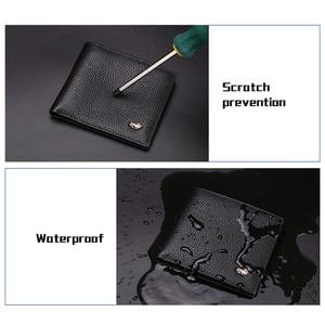 Image 4 - BISON DENIM Genuine Leather Men Wallets Brand Luxury RFID Bifold Wallet Zipper Coin Purse Business Card Holder Wallet N4470