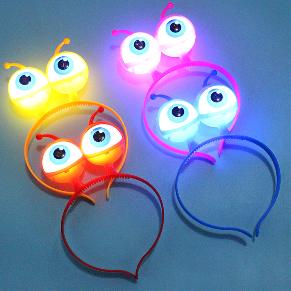LED Light Up Flashing Party Headband Alien Eyes Light Up Headband Hair Accessori