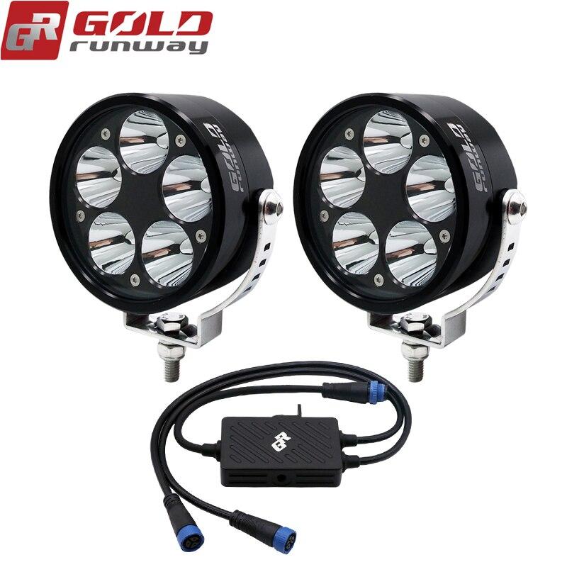 GOLDRUNWAY 3.5 pouces 50 w 6000lm auxiliaire LED lumières pour Voiture Moto Automobiles Travail Lumière Lampe 4WD Camion SUV ATV Spot 12 v