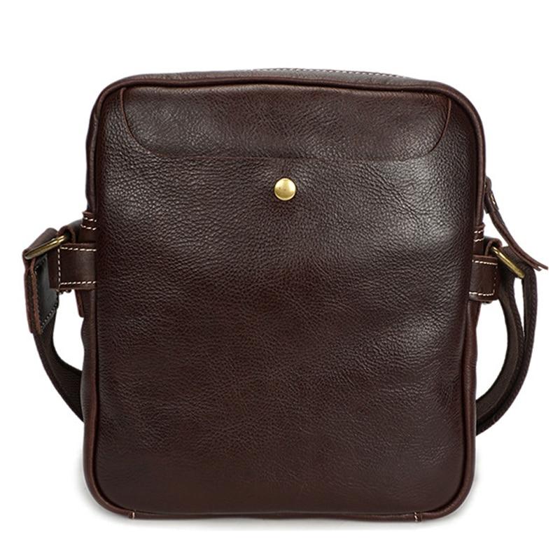 Men's Vintage Style Genuine Leather Crossbody Messenger Handbag Shoulder Sling Bag For Male Man YD8159