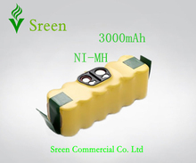 New 14.4V 3000mAh Ni-MH Rechargeable Battery Packs Replacement for iRobot Roomba 500 610 Series 530 510 532 550 540 80501 R3(China)