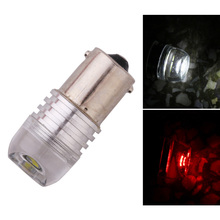 цена на 2pcs Auto LED 1156 1157 BAY15D 3W COB Concave Lens Explosion Strobe Flashing Red 12V P21/5W Car Brake/Turn Signal Lamp Bulb
