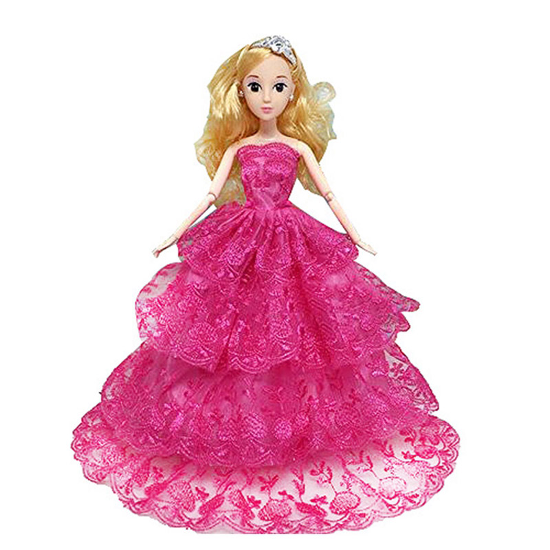 LeadingStar Princess Dress for Barbie Doll Multi lace Evening Party Clothes  Wears Dress Outfit Set. Compare Prices on Barbie Dress Set  Online Shopping Buy Low Price