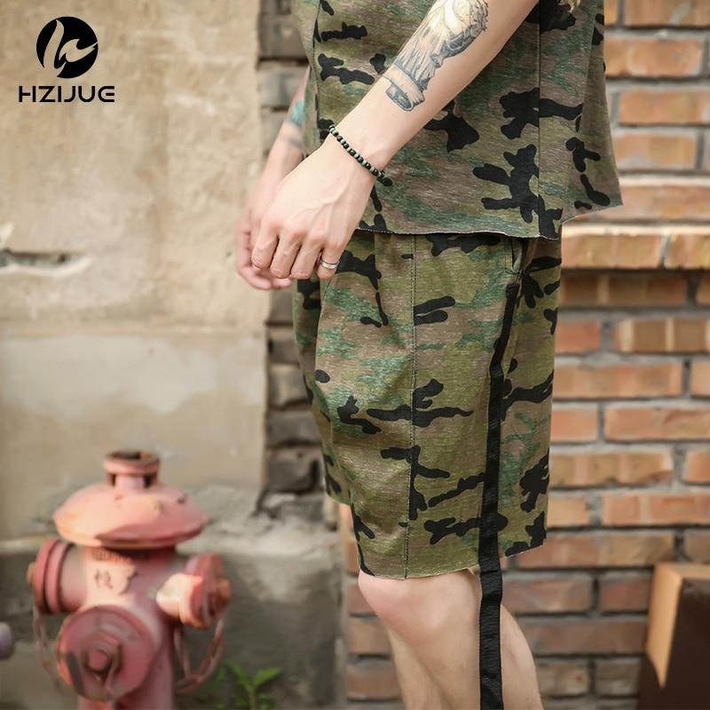 HZIJUE moške kratke hlače maskirni hip hop Justin Bieber slog - Moška oblačila - Fotografija 3