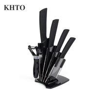 KHTO Kitchen Knives Ceramic Knives Accessories Set 3 Paring 4 Utility 5 Slicing 6 Chef Knife