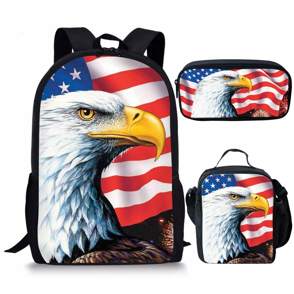 FORUDESIGNS Children School Bags For Girls Boys American Eagles Children Backpack In Primary School Backpacks Mochila Infantil