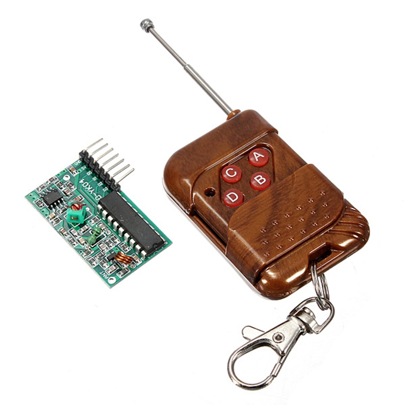 4 Channel Wireless Remote Control 2262/2272 Transmitting Receiving Module and Receiving Non Locking Kit M4 Board Direct Current