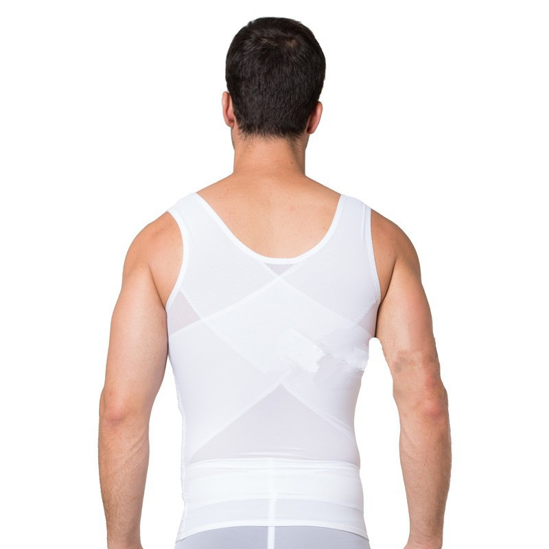 3e3a7f3e69 2016 Male Waist Trainer Vest Black White Tummy Tuck Belt Weight Loss Corset  Belly Reducer Stomach Girdle M
