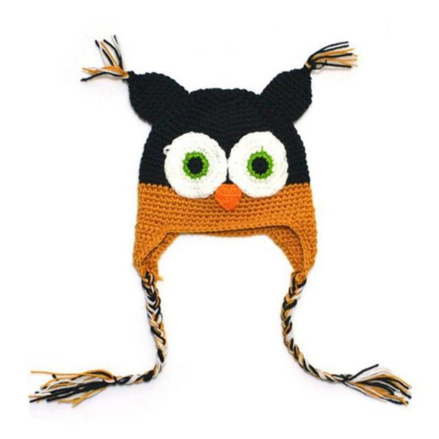 Baby Owl Knit Hat