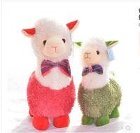 Free Shipping Hight Quality 30cm Cute Amuse Alpaca Plush Toy Sheep Lamp Doll Best Gif For