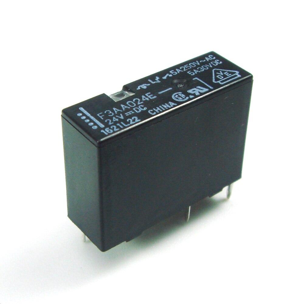 Power Relay F3AA005E F3AA012E F3AA024E 5v 12v 24v 5A 4pin DC5V DC12V DC24V New Original