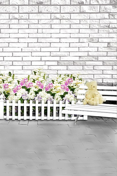 300Cm*200Cm(About 10Ft*6.5Ft) Backgrounds Yongcu Flowers Cubs Bench Photography Backdrops Photo Lk 1567 300cm 200cm about 10ft 6 5ft backgrounds plush blanket windows leaves photography backdrops photo lk 1492