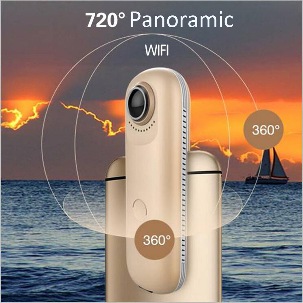 4MP Dual Fish eye Lens 720 degree Panoramic WIFI camera support IOS Android Apps Portable Video Recorder Sport or wide life use4MP Dual Fish eye Lens 720 degree Panoramic WIFI camera support IOS Android Apps Portable Video Recorder Sport or wide life use