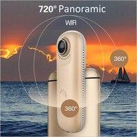 4mp двойной рыбий глаз 720 градусов панорамный WI FI камеры Поддержка IOS Android приложения Портативный видео Регистраторы спортивный или широкий с