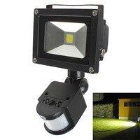 屋外照明投光器20ワット白800lm pirモーションセンサーセキュリティledフラッドライト85-265ボル