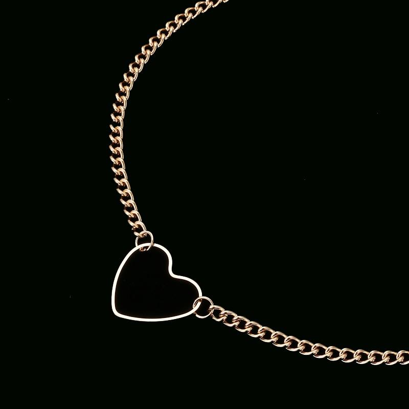 NK218, колье в форме сердца для женщин, ожерелье для ключицы, массивное ожерелье, ожерелье в форме сердца, изысканное ожерелье с подвеской, подарок
