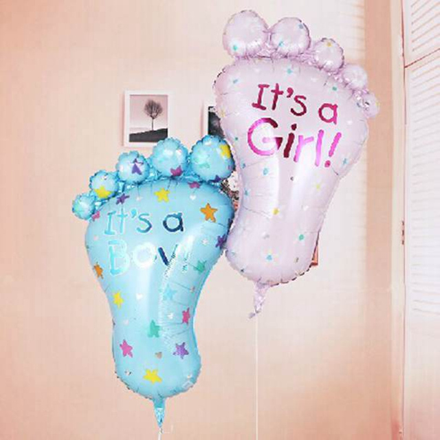 Its A Boygirl Lovely Feet Ballon Baby Shower Foot Aluminum Foil