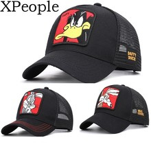 XPeople Men's Hat Adjustable Relaxed Fit Team Arch Donald Duck Strapback Cap Embroidered Dad Hat for Men and Women