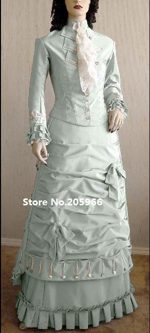 Free Shipping SASS 1877 Victorian Natural Form Bustle Dress Costume/Event Costume/Function Costume