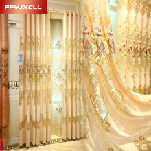 Water Soluble Europe Embroidered Tulle Curtains For Living Room Bedroom Curtains Window Treatment Drapes Luxury Home