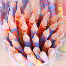 Free Shipping 20pcs/lot Mixed Colors Rainbow Pencil Art Draw