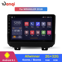 Car Radio For Jeep Wrangler 2018 Android 8.1 HD 9 inch Touch screen GPS Navigation Multimedia Player