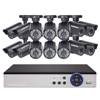 DEFEWAY 1200TVL 720P HD Outdoor CCTV Security Camera System 1080N Home Video Surveillance DVR Kit 16