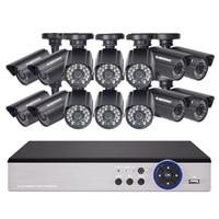 DEFEWAY 1200TVL 720P HD Outdoor CCTV Security Camera System 1080N Home Video Surveillance DVR Kit 16